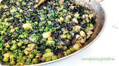 Con pan y postre: Fideos negros con toque verde / Black noodles with...