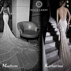 Choices, choices! Which @galialahav dream dress, would you want? An endless train or a Hollywood style? Tell us if you are a Madison or a Katharina? #GaliaLahav #choices #dreamdress #bridalgown #weddingdress #hollywoodstyle #bridaltrain #luxurygown #luxur
