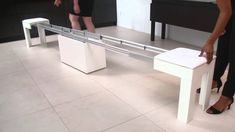 This is one bench that just won't quit! The Toda extendable bench fits up to 7 people. Comprised of birch and eco-leather seats, the Toda bench is the ultima...