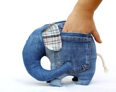 Left Pocket Elephant stuffed toy for kids by AndreaVida. €22.00, via Etsy.