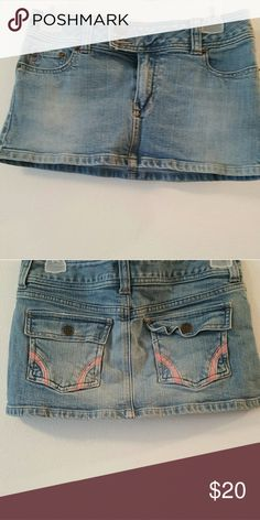 Jean mini skirt Very cute with pockets in the back Urban Outfitters Skirts Mini