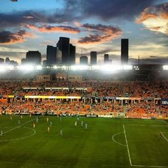 Houston Dynamo playing in a beautiful city with a nice stadium