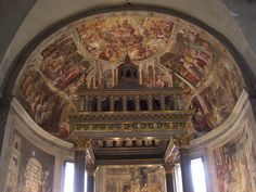Inside the Church of Saint Peter in Chains, Rome (San Pietro in Vincoli) (photo taken by Carla Musarra-Leonard)