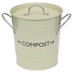 Equally at home in your kitchen or utility room, this steel compost bucket is the stylish way to store peelings for recycling.   Product: Compost bucketConstruction Material: Steel, chrome, rubber and plastic  Colour: ChampagneFeatures: Odour-eliminating sealLiner includedDimensions: 19.5 cm H x 24 cm Diameter