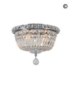 Empress Flush Mount Basket Chandelier - Chrome - W:25cm – Designer Chandelier Australia