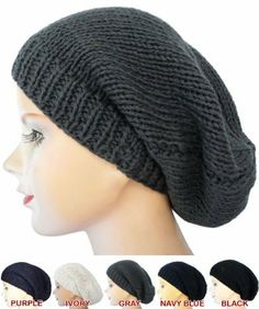 e72299501cd Gray Men   Women Handmade Crochet Knit Braided Stretchy Baggy Beanie by  Handmade Crochet Beanie.