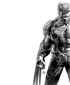Snikt! - Logan/Wolverine by Mike Deodato Jr. *