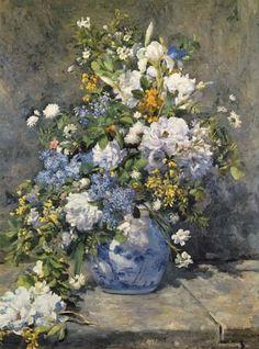 Renoir, Pierre-Auguste - Große Vase mit Blumen