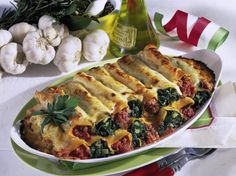 Stuffed Cannelloni with two filling recipe