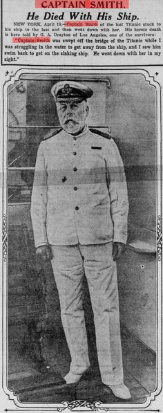 was a British naval officer who served as master of numerous White Star Line vessels. He was the captain of the RMS Titanic, and perished when the ship sank on its maiden voyage. Real Titanic, Titanic Ship, Titanic Wreck, Titanic Sinking, Titanic Underwater, Titanic Survivors, Rare Historical Photos, Vintage Nurse, African American History