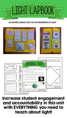 A hands-on unit with lesson plans for every property of light.  Great for students grades 3 - 5!