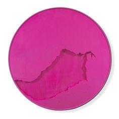 "Manuel Mérida, ""Cercle rouge capucine"", 2013. Wood, pigment, glass, motor."