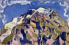 《ミューレンから見たユングフラウ山》 1911年 ベルン美術館  Depositum der Gottfried Keller-Stiftung/Kunstmuseum Bern