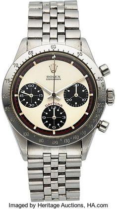 "Timepieces:Wristwatch, Rolex, Ref: 6239, ""Paul Newman"" Cosmograph Daytona, Circa 1969. ..."