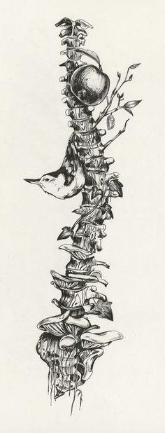 Drawing Human Anatomy Art and illustrations of the human anatomy. Kunst Tattoos, Tattoo Drawings, Art Drawings, Drawings Of Trees, Weird Drawings, Skeleton Drawings, Tattoo Crane, Tattoo Bird, Tree Roots Tattoo