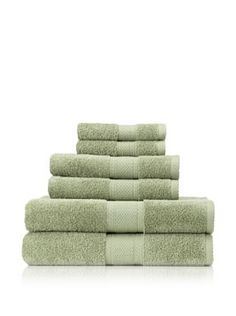 Terrisol 6-Piece MicroCotton Bath Towel Set (Bamboo)