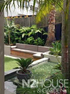 Steal these cheap and easy landscaping ideas​ for a beautiful backyard. Get our best landscaping ideas for your backyard and front yard, including landscaping design, garden ideas, flowers, and garden design. Sloped Backyard Landscaping, Backyard Seating, Garden Seating, Backyard Patio, Landscaping Ideas, Sloping Backyard, Landscaping Shrubs, Tropical Garden Design, Backyard Garden Design