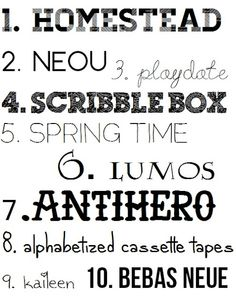 Some very cool free fonts