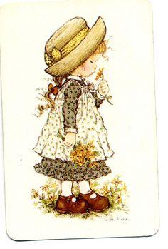 holly hobbie, reminds me of childhood. Sarah Key, Holly Hobbie, Illustrations, Illustration Art, Decoupage, Hobby Horse, Vintage Cards, Vintage Flowers, Paper Dolls