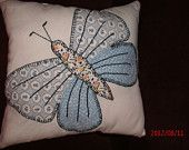 VINTAGE BUTTERFLY QUILT Pillow