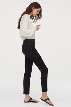 Ankle-length Slacks - Black - Ladies | H&M US