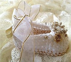 White, Crochet Baby Girl Booties~❥