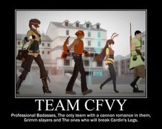 Team CFVY motivational Poster by Abei34