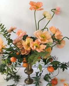 Poppies and Fleetwood Mac this morning. Fall Flowers, Orange Flowers, Colorful Flowers, Beautiful Flowers, Flowers Garden, Fall Flower Arrangements, Flower Centerpieces, Centrepieces, Wedding Reception Flowers