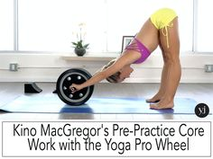 Going to try and modify this and use an ab roller since I don't have a yoga wheel!