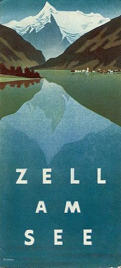 "Travel brochure ""Zell am See,"" 1935."