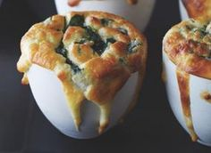 Top Chef Recipes - Spinach and Gruyere Souffles