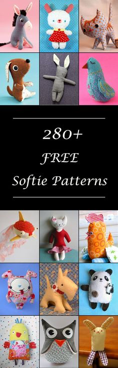 Free Stuffed Animal Patterns is part of Simple Fabric Crafts - Lots of free stuffed animal patterns Cute plushie patterns & softie toys to sew Fun diy sewing projects & tutorials Simple & easy or advanced Plushie Patterns, Animal Sewing Patterns, Softie Pattern, Sewing Patterns Free, Free Sewing, Free Pattern, Knitting Patterns, Crochet Patterns, Easy Patterns