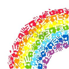 Rainbow made from hands Abstract vector background , Auction Projects, Art Auction, Art Projects, Hand Kunst, School Murals, Rainbow Painting, Rainbow Theme, Rainbow Crafts, Handprint Art