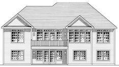 Ranch House Plan 94159 Rear Elevation