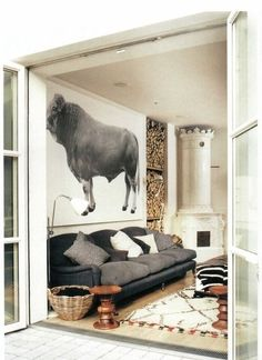 The room i based my house on....love this bull.