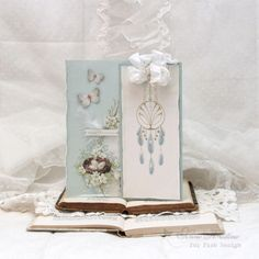 A Happy Birthday Dreamcatcher tag with The Songbird's Secret paper collection