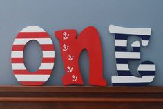 Nautical Theme First Birthday Photo Prop ONE by WeeLikeToParty, $35.00