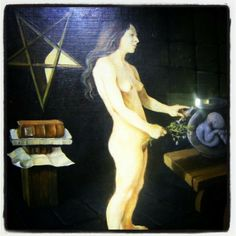 Painting from the Witchcraft Museum. Boscastle.