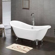 slipper tub clawfoot tub for farmhouse bathroom