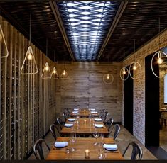 Tessa NYC by Bates Masi Architects / Restaurant Private Dining Interior Design Magazine, Bistro Bar, Hotel Reception, Residential Architect, Modern Architects, Fire Escape, Bar Lounge, Commercial Interiors, Ceiling Design