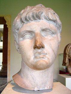 Drusus the Elder (Nero Claudius Drusus Germanicus), son of Livia, adopted son of Augustus, brother of Emperor Tiberius, father of Emperor Claudius, Roman statue (marble), 1st century BC - 1st century AD, (Musée du Cinquantenaire, Brussels).