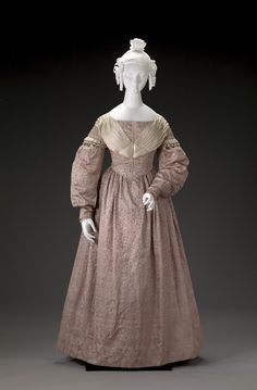 Wedding Dress | American | 1837 | silk, cotton | Indianapolis Museum of Art | Accession #: 2003.81