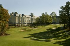 Duke Univ Golf Club, Durham, NC - #9 - Very challenging course and rated in the top 10 public courses in NC by Golfweek.  The Inn in the background just sort of wreaks of history.  This is a very strong and enjoyable course.