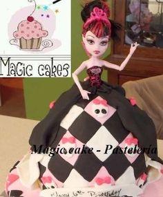 promoción! hermosas tortas monster high + 15 cupcakes!