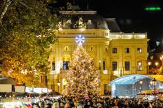 Among the other beautiful places in Eastern Europe you can visit Bratislava Slovakia on 2020 New Year holidays Bratislava Slovakia, Nye Party, New Year Holidays, Eastern Europe, Beautiful Places, Mansions, Xmas, Christmas, House Styles