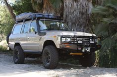 1990 FJ62 Toyota Land Cruiser on FZJ80 Chassis: ARB Roof Rack and Front Bumper. TLC