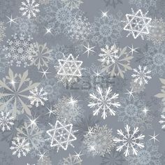 Seamless snowflakes background for winter and christmas theme. photo