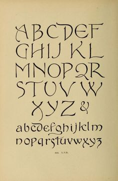 Alphabet old & new for the use of craftsmen Hand Lettering Alphabet, Calligraphy Letters, Typography Letters, Alphabet Letters, Caligraphy, Chalk Typography, Old Letters, Font Art, Spanish Alphabet
