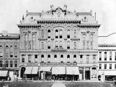 J. L. Hudson's first store opened April 2, 1881, in the old Detroit Opera House, which stood on Campus Martius. Compuware's headquarters is there today. (Photo: Burton Historical Collection, Detroit Public Library)