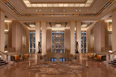 Waldorf Lobby's redefinition based on 1931 blueprints.